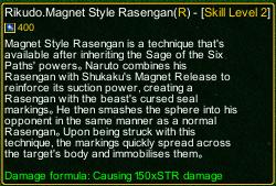 naruto castle defense 6.2 naruto Rikudo.Magnet Style Rasengan detail