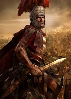 Centurion in battle