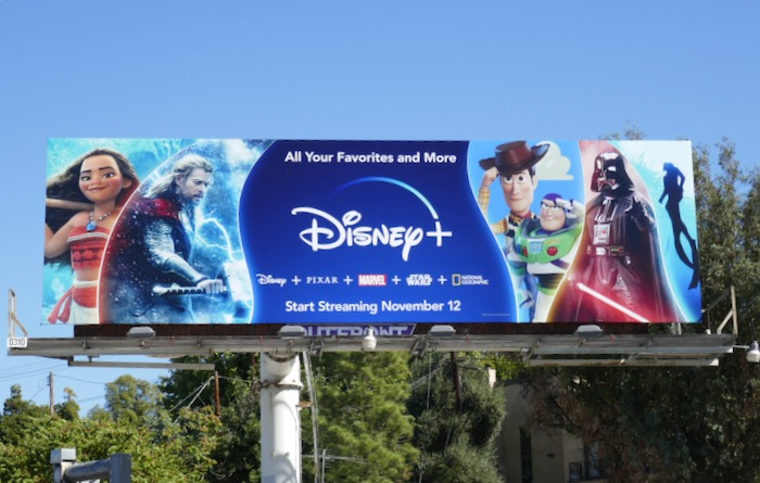 Disney+ Moana Thor billboard