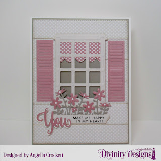 Paper Collection: Shabby Pastels, Stamp/Die Duos: You Bless Me So, Custom Dies:  Welcoming Windows, Flower Box Fillers, Pierced Rectangle