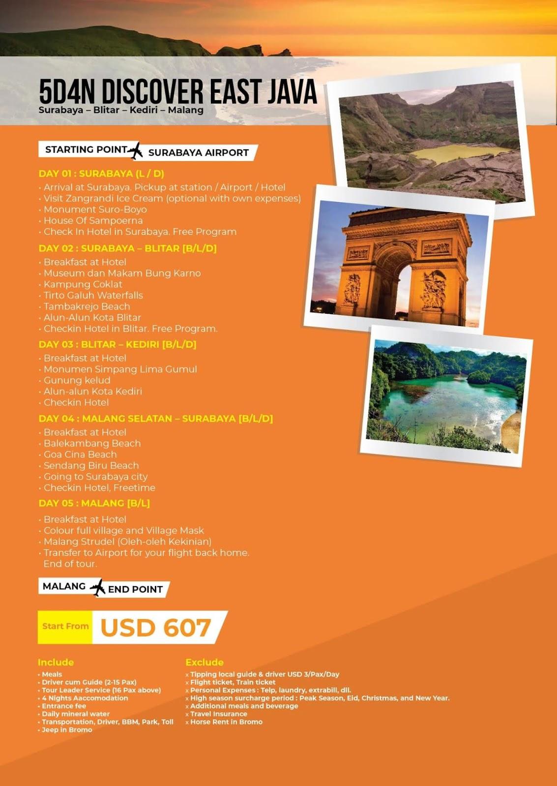 paket wisata discover jawa timur