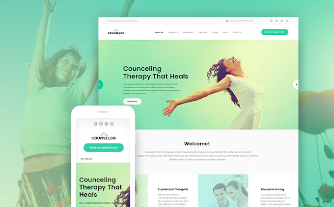 Counselor - Counseling Therapy Center Responsive WordPress Theme