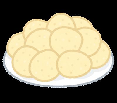 お皿に乗せたポテトチップスのイラスト