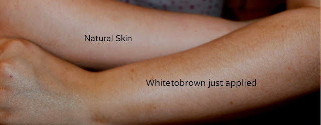 Whitetobrown - tanning lotion - fake tan - self tan - instant tan - review