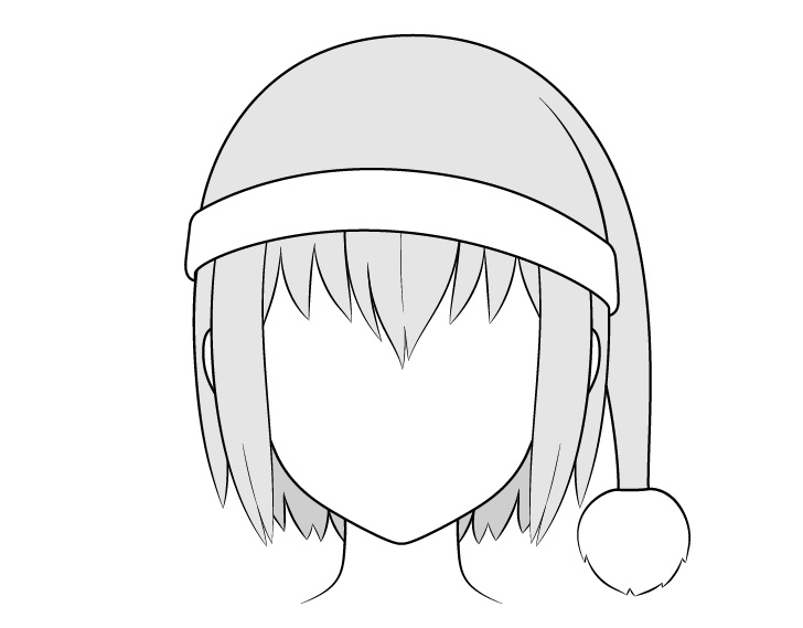 Gambar topi Anime Santa
