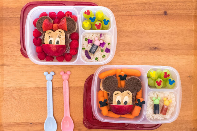 How to Make a Disney Mickey and Minnie Mouse Food Art Bento Lunch