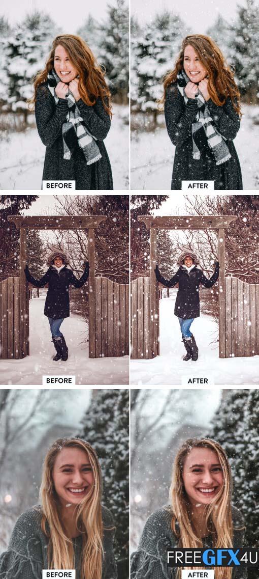 30 Realistic Snow Overlays