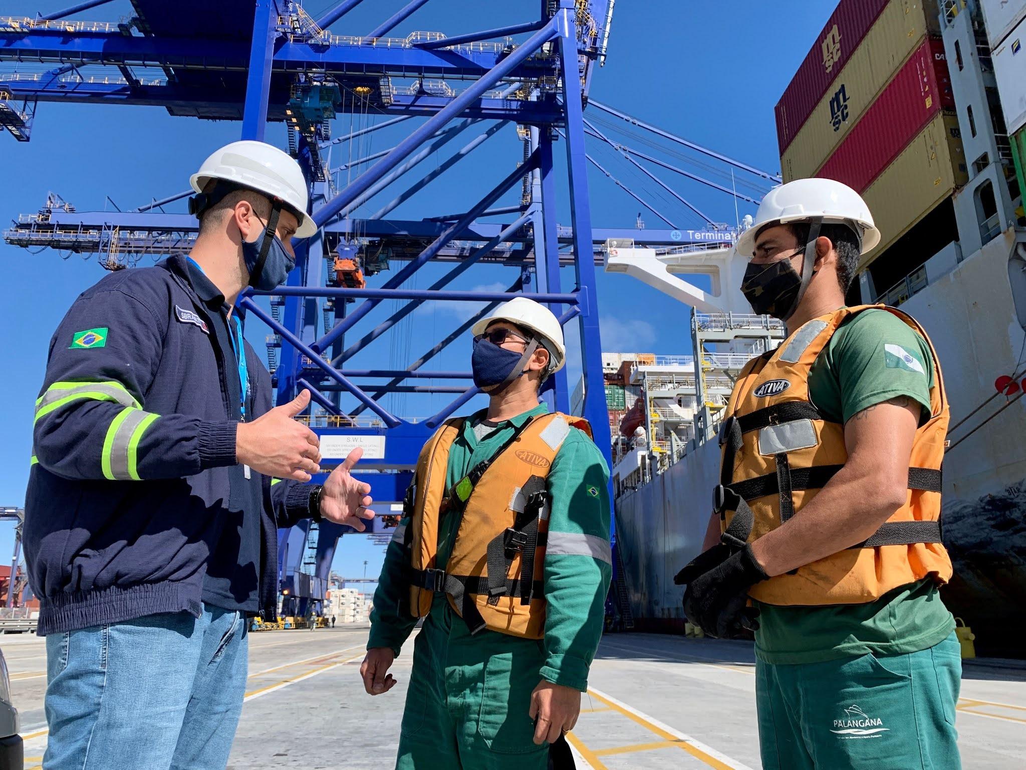 Os portos do Paraná reforçam rotinas e protocolos de segurança no trabalho