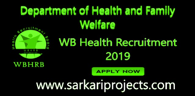 WB Health Recruitment 2019:Apply Here Online Yoga Instructor, Yoga Assistant Post before the last dates