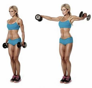 Lifts / Side openings with dumbbells