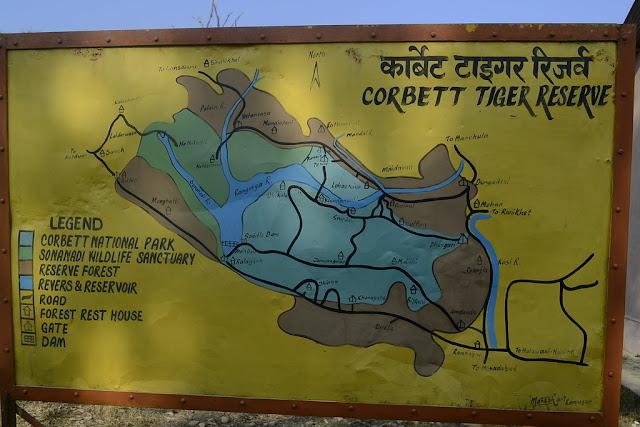 जिम कॉर्बेट नेशनल पार्क का नक्शा