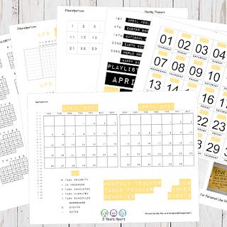 April 2021 Bullet Journal / Planner Free Printable Stickers!
