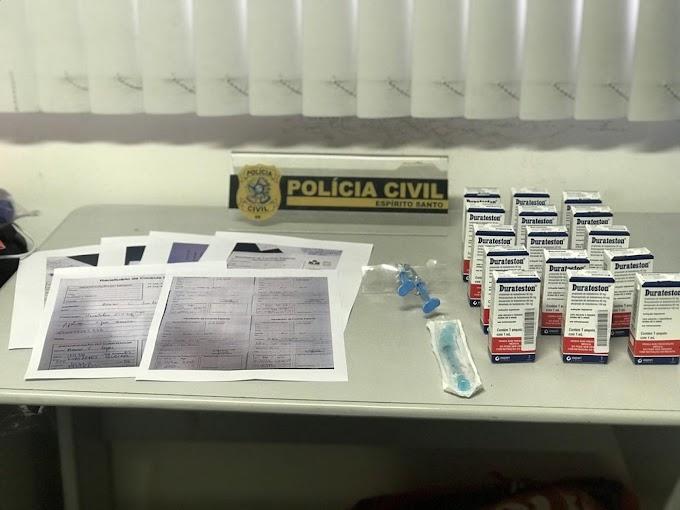 Suspeito de traficar anabolizantes é preso em Vitória