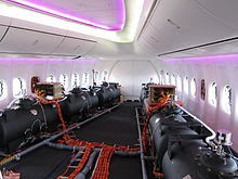 Barris de lastro em um Protótipo Boeing 747-1