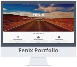 Mẫu Fenix Portfolio Blogger