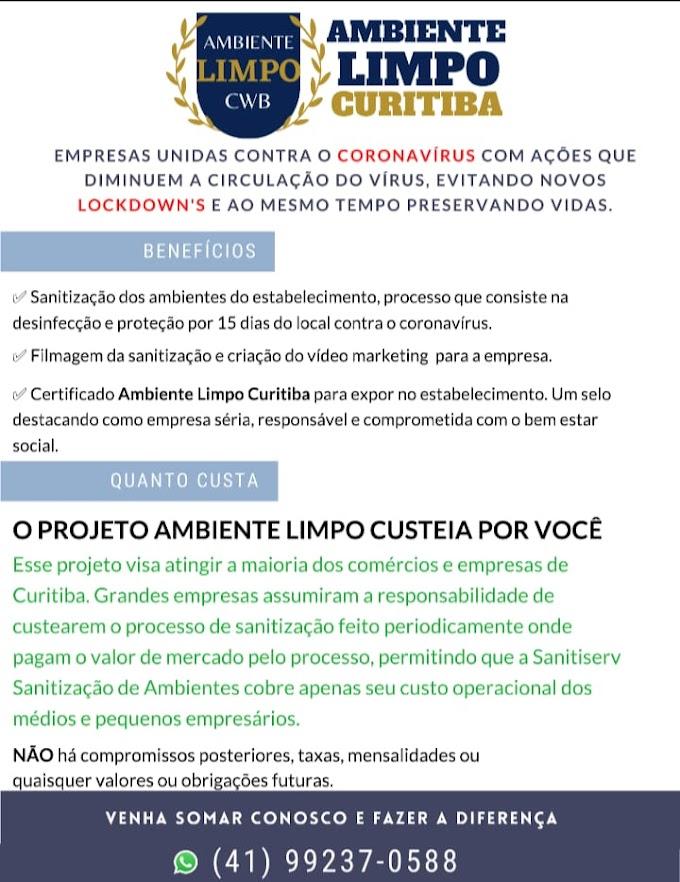 Projeto Ambiente Limpo Curitiba - Serviço de Sanitização