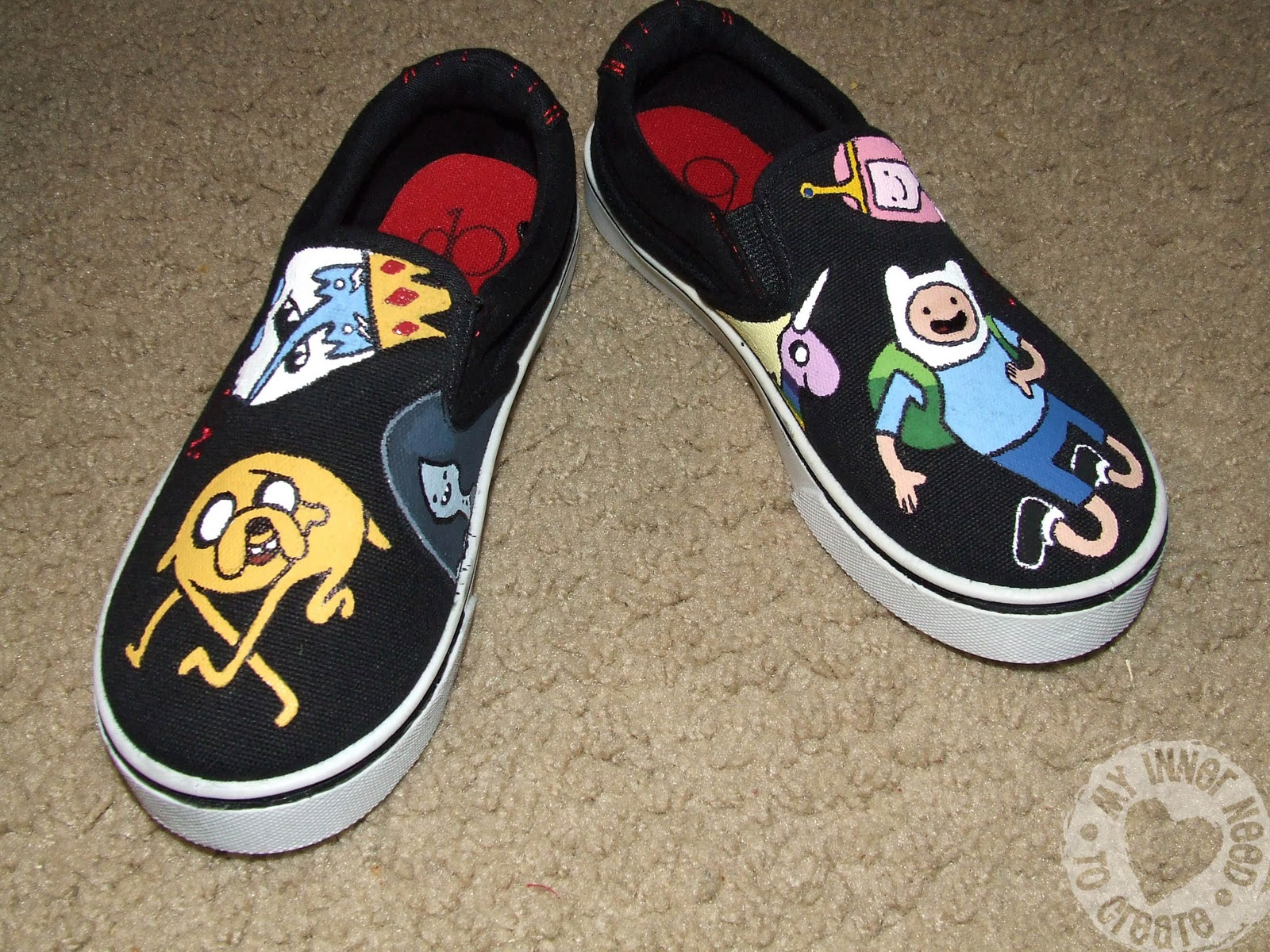 678d9973ba My Inner Need to Create...  Adventure Time Shoes