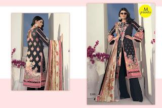 M print vol 3 pakistani Cotton dress Material catalog