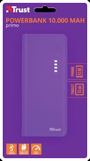 trust 22750 power bank 1000mah violeta