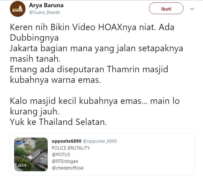 Video Oknum Aparat Gebuki Orang di Masjid