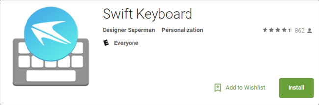 falsa app Swift Keyboard