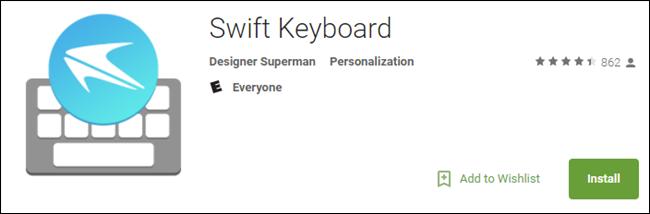 falsa app Swift Keyboard