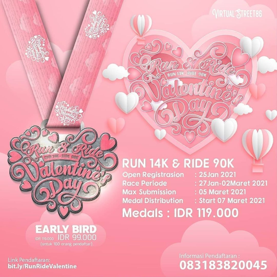 Virtual Run & Ride - Valentine's Day • 2021