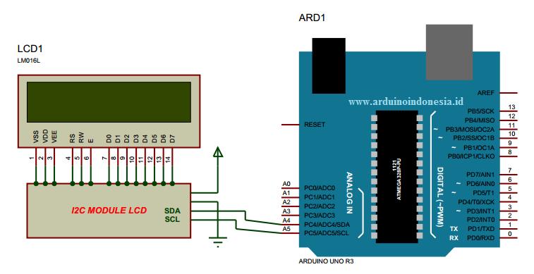 Cara Interface Arduino Uno dengan Hardware I2C LCD 16x2