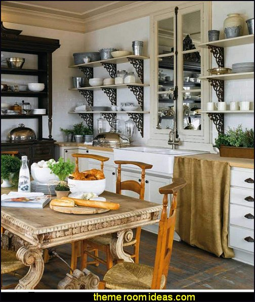 French-Inspired Home French-Inspired kitchen french country bistro paris cafe