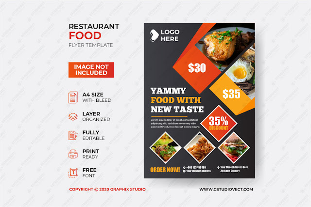 Food poster design template free download