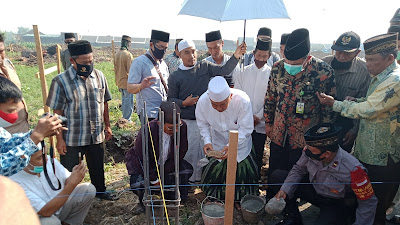 Prof Dr KH Asep di Peletakan Batu Pertama Pesantren Ma'had An Nur:Ponpes Agar Besar Lakulan 7 Syarat Ini