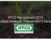 IFFCO requires Agriculture Graduate Trainee (AGT) -August 2019