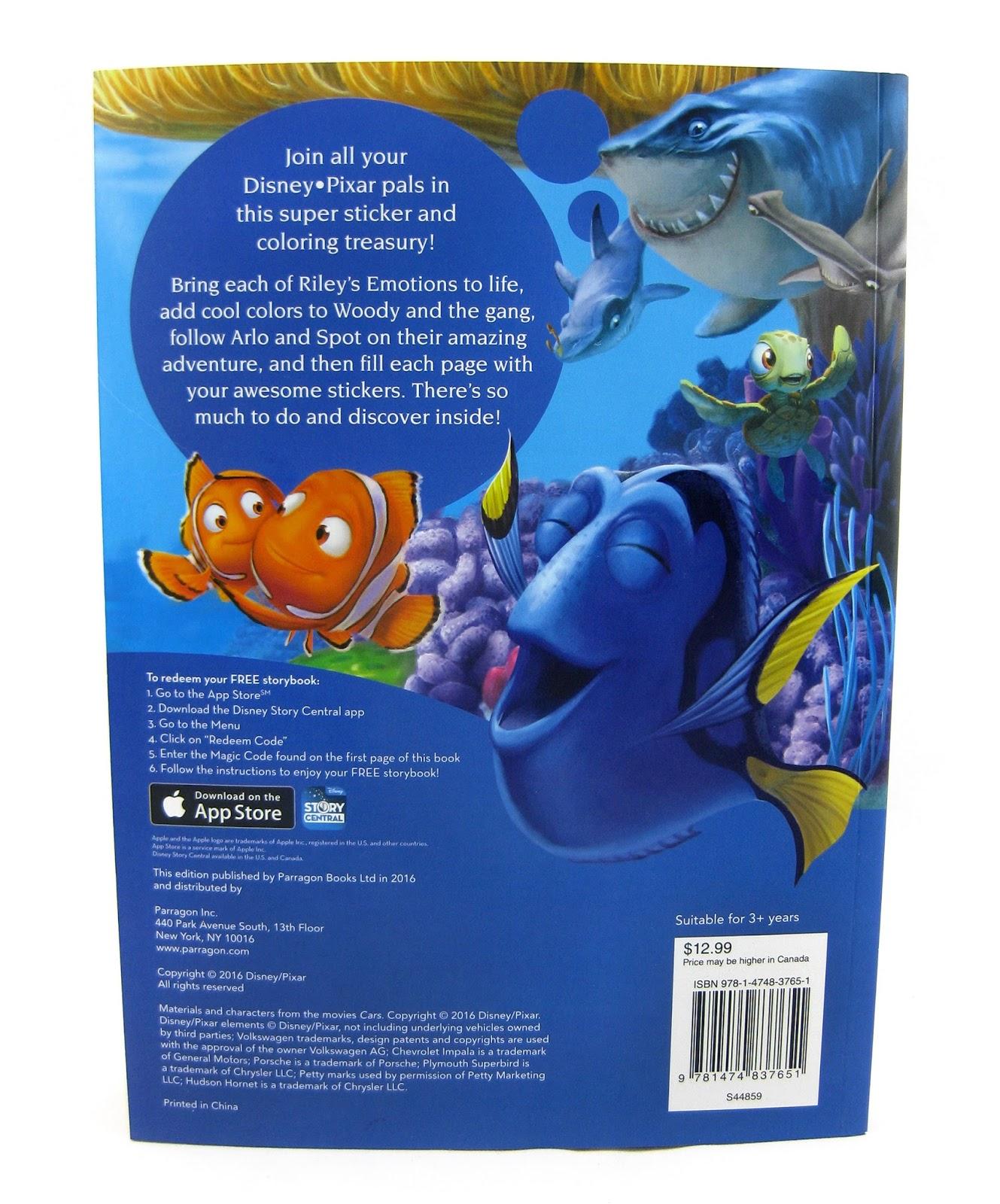 Let Your Dreams Soar Pixar Coloring Sticker Book