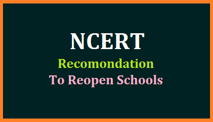 ncert-guidelines-recomondations-to-reopen-schools-due-to-corona-covid19