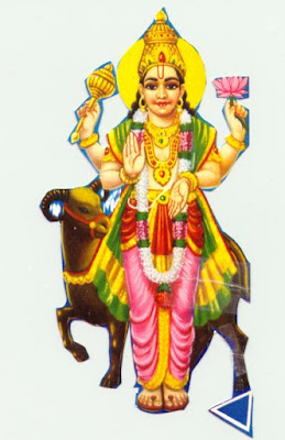 Picture of Lord Mangal or Kuja Chevvai, Planet Mars, one of the nine Navagraha