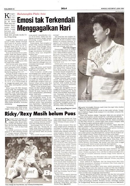 Tabloid BOLA EDISI 538 MINGGU KEEMPAT JUNI 1994