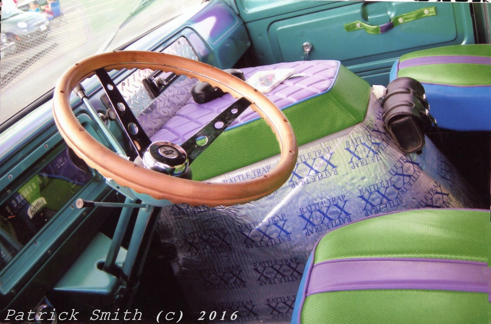 small resolution of interior is almost completed engine cover looks like will have a green and purple theme