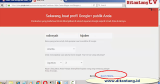 cara membuat blog di blogspot 2017 profil google
