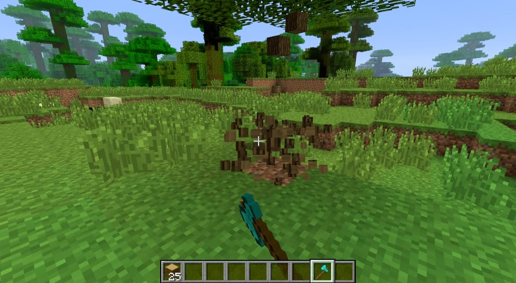 Timber mod of minecraft