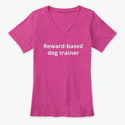Reward-based dog trainer tee from Companion Animal Psychology