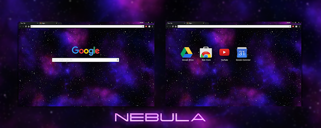 Nebula Google Theme  | Chrome Web Store