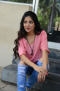 Actress Poonam Kaur Stills in Ripped Jeans at Attack Movie Audio Launch  0022