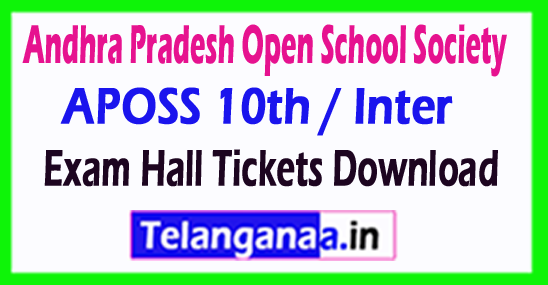 AP Open School SSC / Intermediate Hall Tickets Download