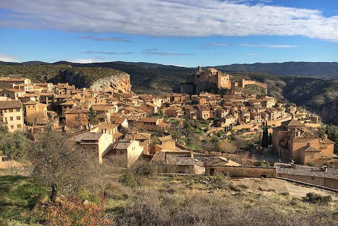 Panorámica de Alquézar, en Huesca.