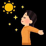 日光浴のイラスト(女性)