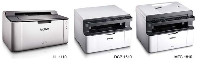 Topmoderne Brother unveils HL-1110, DCP-1510, MFC-1810, and MFC-1815 EJ-39