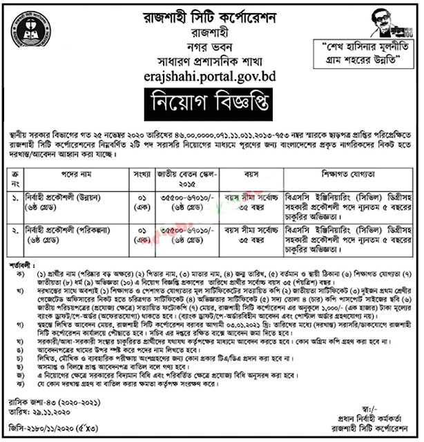 Rajshahi City Corporation Job Circular 2021
