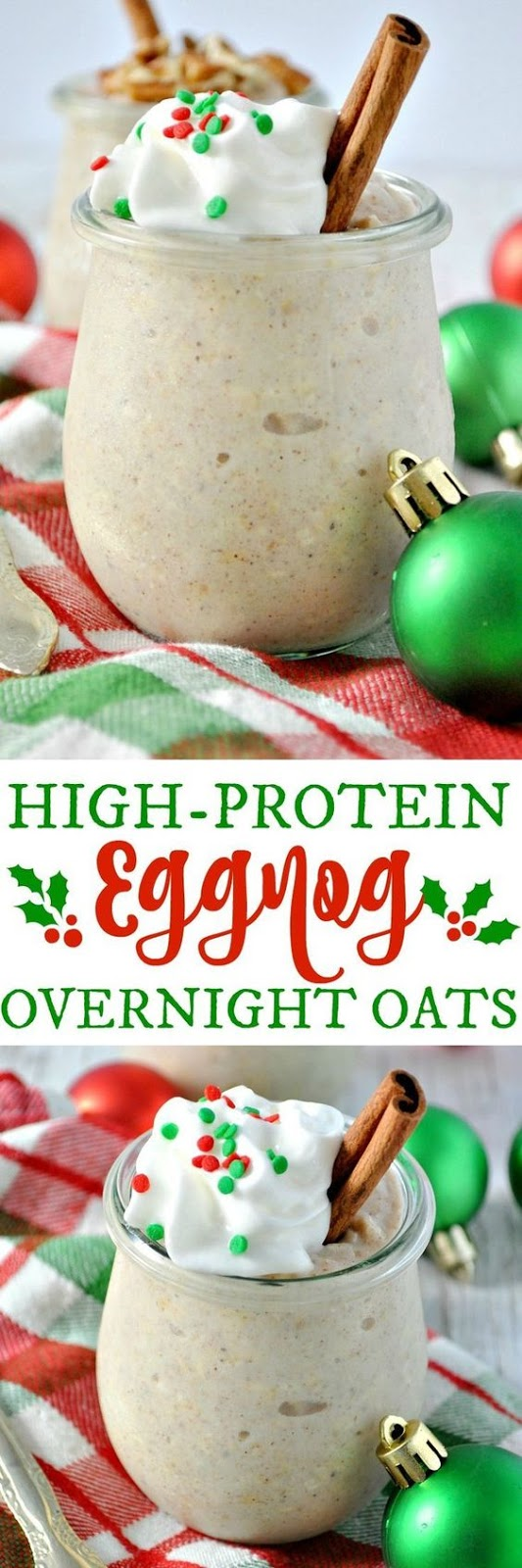 High-Protein Eggnog Overnight Oats