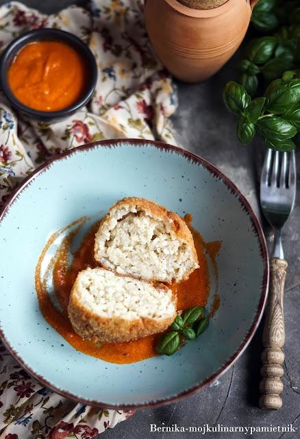 kotlet, ryz, kotlety ryzowe, arancini, obiad, mozzarella, bernika, wegeteraianskie, kulinarny pamietnik