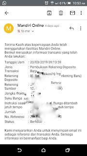 Deposito mandiri online